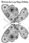 Decorative Butterfly Woodware Clear Stamp (JGS557)